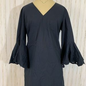 Lafayette 148 New York Dress, with Bell Sleeves
